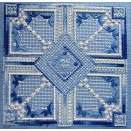 {en:Ornament cross stitch pattern Gzhel;}