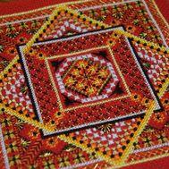 {en:Ornament cross stitch pattern Khokhloma;}