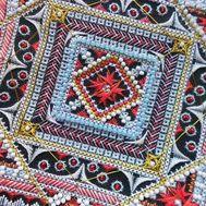 {en:Ornamental cross stitch pattern Oriental;}