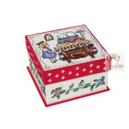 Plastic canvas tissue box pattern The Princess & The Pea}