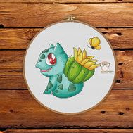 Pokemon Cross stitch pattern Bulbasaur & Cactus}