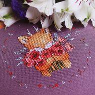 Round Cross stitch pattern Cute Fox}