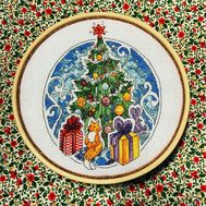 Round cross stitch pattern Christmas Tree}