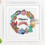 Mom's Kitchen Round cross stitch pattern
