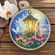 Summer Fantasy Round cross stitch pattern