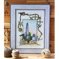 {en:Sea Sampler cross stitch pattern Lighthouse;}