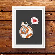 Star wars cross stitch pattern BB8