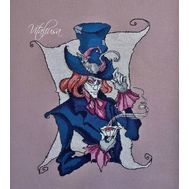 The MAD HATTER cross stitch pattern from Alice in Wonderland}