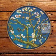 Van Gogh cross stitch pattern Almond Blossom