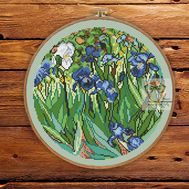 Van Gogh cross stitch pattern Irises