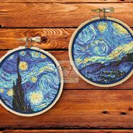 Van Gogh cross stitch pattern Starry Night
