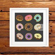 Vintage cross stitch pattern Donuts