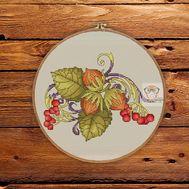 Vintage cross stitch pattern floral Three Nuts For Cinderella}