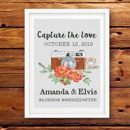 Wedding cross stitch pattern Capture Love Sampler Red Flowers