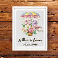 Wedding sampler cross Flower Parachute