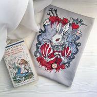 White Rabbit cross stitch pattern Alice in Wonderland pattern}