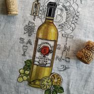Wine Sauvignon cross Stitch pattern