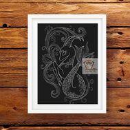Zodiac Cross stitch pattern Horoscope Capricorn}
