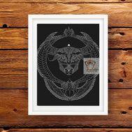 Zodiac Sign Cross stitch pattern Taurus}