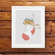 ''Bunny in a Sock'' cross stitch pattern pdf