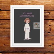 LEIA star wars cross stitch pattern