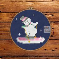 EasySnowman Christmas Stocking cross stitch pattern