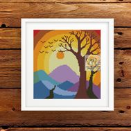 Mandala Tree of Life Cross Stitch Pattern