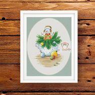 Christmas cross stitch Chart Snowman