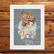 {en:Cosmo Coffee Fantasy cross stitch pattern;}