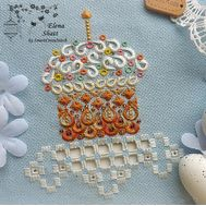 Easter Cross Stitch pattern Cake Decor