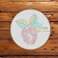 Fruit Cross stitch pattern Apple}