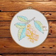 Fruit Cross stitch pattern Lemon}