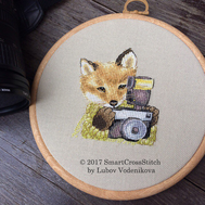Amateur Photographer Fox Funny cross stitch