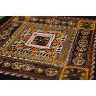 {en:Ornament cross stitch pattern Chocolate;}
