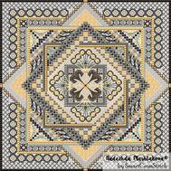 {en:Ornament cross stitch pattern Diamond;}
