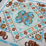 {en:Ornament cross stitch pattern Sea Breeze;}