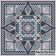 {en:Ornament cross stitch pattern Stars;}