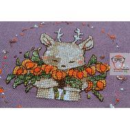 Round Cross stitch pattern Cute Deer}