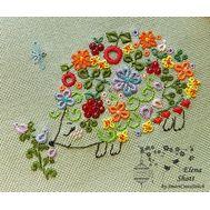 Floral Whitework Hedgehog in Love