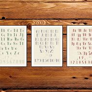 3 ABCs alphabet cross stitch pattern 3 fonts