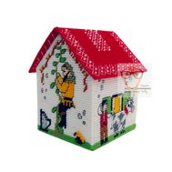 Robin Hood plastic canvas house box pattern}