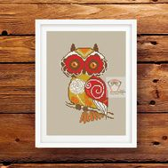 Vintage Owl Free cross stitch pattern