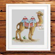 Animal Cross stitch pattern Camel}