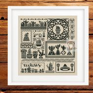 Cactus Cross stitch pattern Succulents All in One}
