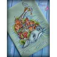 Fairy Tale cross stitch pattern Whale Land}