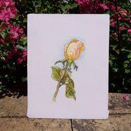 Floral Cross stitch pattern Yellow Rose pdf pattern}