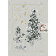 Forest Cross stitch pattern FirTree}