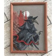 Gothic cross stitch pattern Epidemy by Iren Horrors}