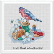 Needle Bird cross stitch pattern