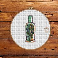 {[en]:Fantasy cross stitch pattern Magic Bottle